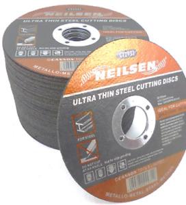 "PK OF 10 - 115mm 4.5"" ULTRA THIN STEEL METAL CUTTING BLADE DISCS 4 1/2"" x 1mm"