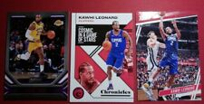 LEBRON JAMES AND KAWHI LEONARD LOT 3 CARDS 2020 CHRONICLES