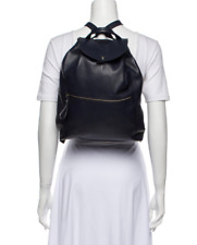 Authentic Longchamp veau foulonne backpack Navy Blue leather $630