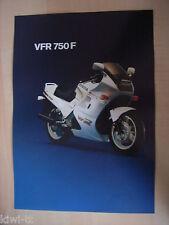 Honda vfr750f prospectus/Brochure/DEPLIANT, D