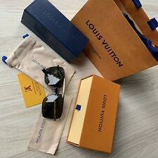 Louis Vuitton Mens Evidence Sunglasses Black Gold