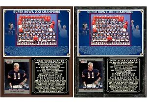 1986 New York Football Giants Super Bowl XXI Champions Photo Card Plaque