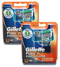 16 Gillette Fusion ProGlide Power Rasierklingen / 2x 8er in OVP 16er Set