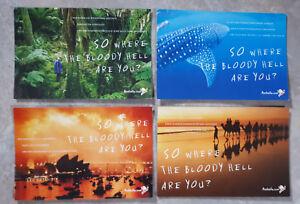 4 Stück Australien Postkarte Postkarten Sidney Strand Natur Motive