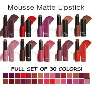 All 30 PCs! Italia Matte Lipstick Set - Ultra Smooth, Long Lasting *US Seller*