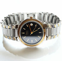 Caravelle By Bulova Mens Two Tone Wrist Watch New Bettery Working Great!