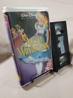 Alice in Wonderland (VHS, Clam Shell) Walt Disney Masterpiece Collection