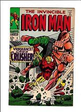 """IRON MAN  #6  [1968 NM-]  HIGH GRADE!  """"VENGEANCE CRIES THE CRUSHER!"""""""