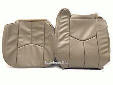 03-06AVALANCHE SILVERADO SIERRA LEATHER PASSENGER SEAT COVER MEDIUM NEUTRAL TAN
