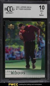 2001 Upper Deck Golf Tiger Woods ROOKIE RC #1 BCCG 10