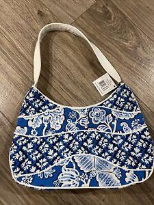NWT Vera Bradley BLUE LAGOON Making Waves Shoulder Bag Purse