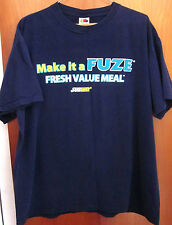 FUZE new-age beverage T shirt Fresh Brewed Iced Tea XL beat-up tee Subway