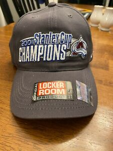 COLORADO AVALANCHE 2001 STANLEY CUP CHAMPIONS LOCKER ROOM HAT w/ TAGS