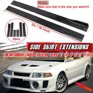 2m Side Skirt Spoiler Rocker Panel For Mitsubishi Lancer Evolution GT EVO CJ GT