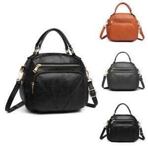 Stylish Women Faux Leather Tote Handbag Ladies Bow Shoulder Cross Body Bag