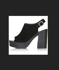 TOPSHOP NYA chunky suede slingback open toe platform heels sandals shoes 39 8.5