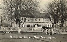 RPPC,Camp Dix,New Jersey,Farmhouse Soldiers Club,World War I Era,c.1916-18