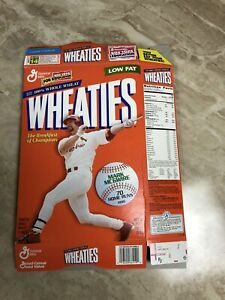 Vintage Mark McGwire 70 Home Runs 1998 Wheaties Cereal  General Mills Box