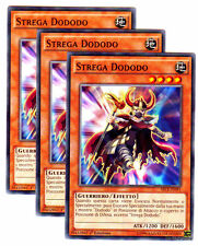 Set 3X STREGA DODODO  Witch SECE-IT091 Comune in Italiano YUGIOH