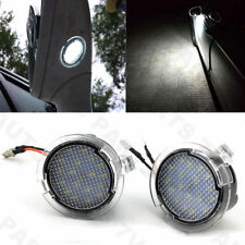Pair LED Side Mirror Rear View Under Puddle Lights White 6000K Lamp Kit For Ford