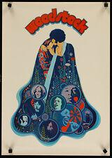 "WOODSTOCK 1970 original unfolded 16""x23"" movie poster Richard Amsel art"