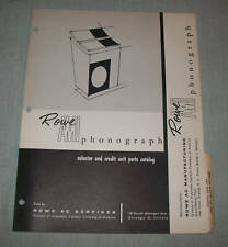 Rowe Ami Model M Selector And Credit Unit Parts Book