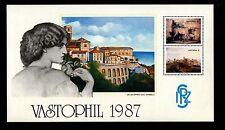 FOGLIETTO IPZS 1987 MANIFESTAZIONE VASTOPHIL ERINNOFILO DIPINTO DI E. VANGELLI