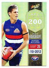 2013 Select Champions Ryan Hargrave Western Bulldogs WCE Milestone MG83