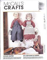 "8034 UNCUT Vintage McCalls Pattern Crafts Home Decorating 21"" Bag Lady Man OOP"