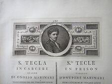 1780 circa-S.TECLA IN CARCERE quadro di ONORIO MARINARI-PITTURA-TOSCANA