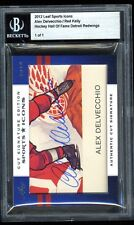 2012 Leaf Sports Icons Authentic DUAL Cut Auto ALEX DELVECCHIO / RED KELLY #1/1
