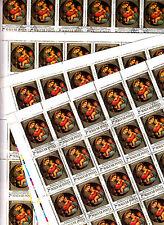 Hongrie MAGYAR Posta 12 feuilles 45TP RAPHAEL  Madonne de la chaise 1983 2 Ft