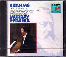Murray PERAHIA: BRAHMS Piano Sonata No.3 Rhapsody Capriccio Intermezzo CD