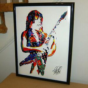 Randy Rhoads Ozzy Guitar Metal Hard Rock Music Poster Print Wall Art 18x24