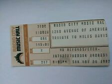 "Miles Davis ""Tribute"" Ticket Stub"
