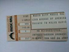 "Miles Davis ""Tribute"" Ticket Stub"