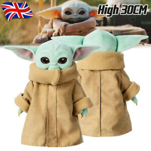 Baby Yoda Plush Toy 30cm Master The Mandalorian Force Stuffed Doll Gift For Kids