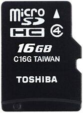 Toshiba Thn-m102k0160m2 Micro SD Catégorie 4 16gb C/a Nouveauté