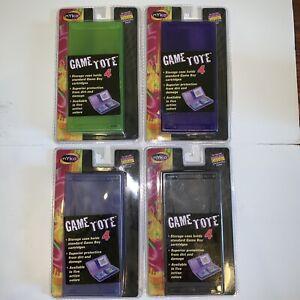 4 NEW VTG NYKO Game Boy Color/Pocket Totes Storage Case Blue Green Black Purple