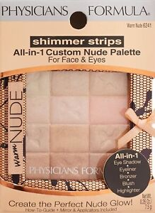 Physicians Formula Shimmer Strips All-in-1 Custom Nude Palette Warm Nude #6241