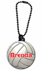 Volleyball Zipper Pull/Bag Tag Personalized with Name on 1.5 Inch Charm