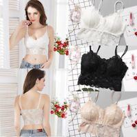 Women's Lace Floral Bralette Bralet Bra Bustier Cami Unpadded Tank Tops Crop Top