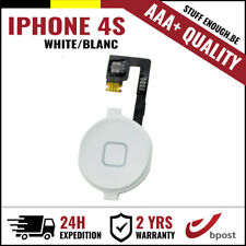 AAA+ Home Replacement Button Bouton Assembly &Flex Cable White For iPhone 4S