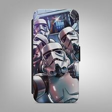 STAR WARS STORM TROOPER LEATHER FLIP WALLET PHONE CASE COVER FOR IPHONE SAMSUNG