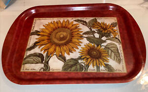 New Sunflower Design MELAMINE FOOD SMALL SNACK TRAY Kitchen Dining Cooking