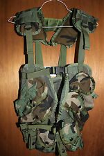 US Military Issue Tactical Load Bearing Vest Enhanced LBV Woodland Camo NEW