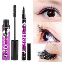 Mascara + Eyeliner Set Two Long and Thick Waterproof and Not Blooming Makeup