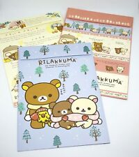 3x Rilakkuma Winter Envelopes -  San-X Kawaii Japan UK