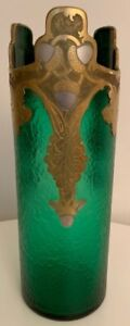 1900 - 1925 LEGRAS & CIE, MONTJOYE etched and gilded Vase 1900
