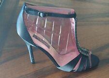 d5eef1bf67f Nina Ulrica Womens Size 9.5M Black Satin Rhinestone Open Toe Heels New In  Box